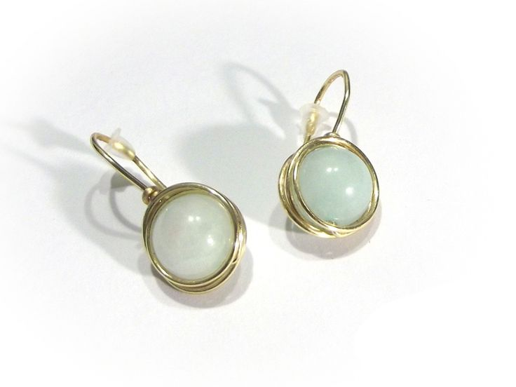 Mint jadeite earrings wire wrapping NICE GIFT from betulek by DaWanda.com   #earrings   #kolczyki   #jewelry  #jade #mint #jewellery   #gift   #beauty   #fashion   #style   #minimalism   #quality #trendy #handmade #instagood   #handmadejewelry   #buyhandmade   #earings   #betulek   #bybetulek   #jewel   #look