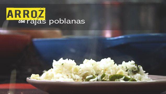 ARROZ BLANCO CON RAJAS POBLANAS | Chef Oropeza | CHEF OROPEZA ...