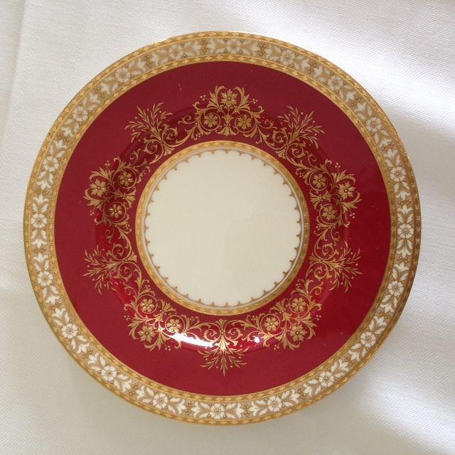 Fine Tiffany Minton China H4282 Set 12 Salad Plates Red