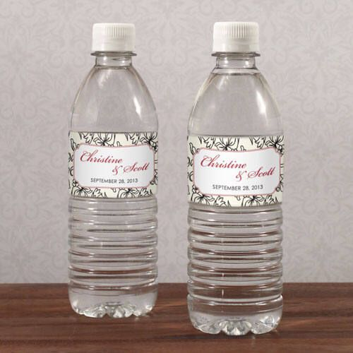 my #etsy shop: Eclectic Patterns Personalized Water Bottle Labels Wedding Favors #wedding #weddingfavors
