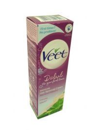 £1.99 - Veet Debut 5 Minute Hair Removal Cream For Your First Time Welcome first timer Veets amazingly effective formula with moisturiser complex now contains twice the moisturisers.  It works in 5 minutes to leave your skin smooth, effectively moisturised and luxuriously soft.  Developed with aloe vera and vitamin E for sensitive skin.  Includes a helpful step by step leaflet to help you achieve great results first time.