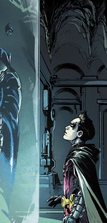 OMW IS THAT DAMIAN AND NIGHTWINGS SUIT JUST NO PEOPLE