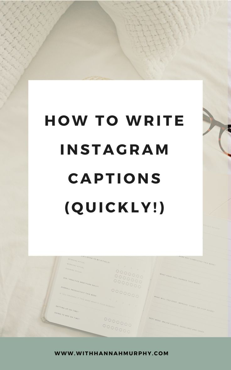 How to Write Instagram Captions (Quickly!)