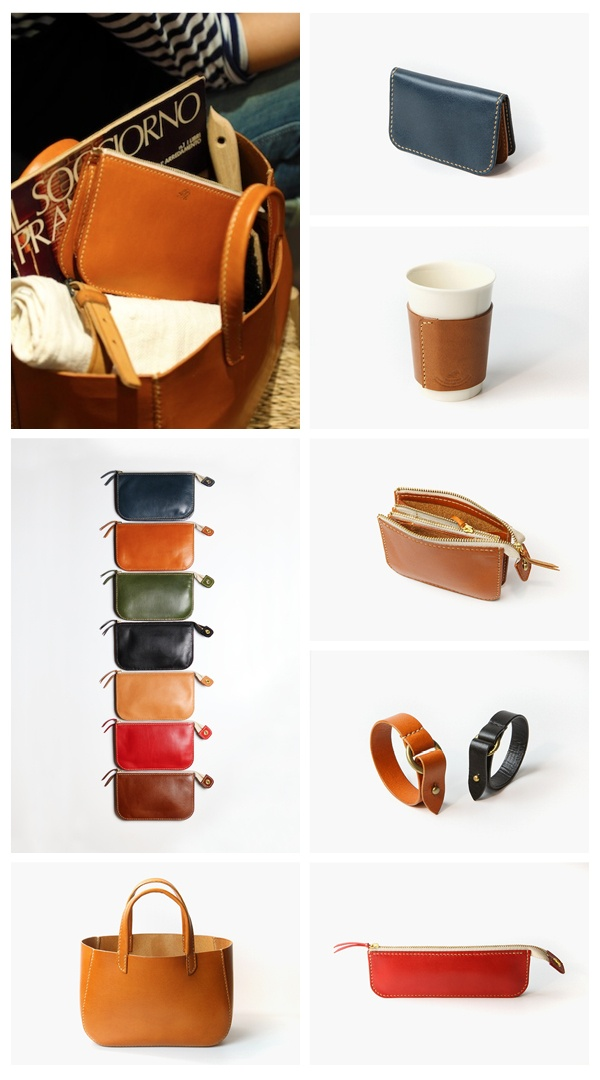 handcrafted leather goods by kagoshima . japan designer shoichiro ibuchi