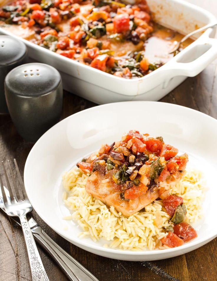 Baked Mahi Mahi with Tomatoes & Olives   Recipe   Mahi ...
