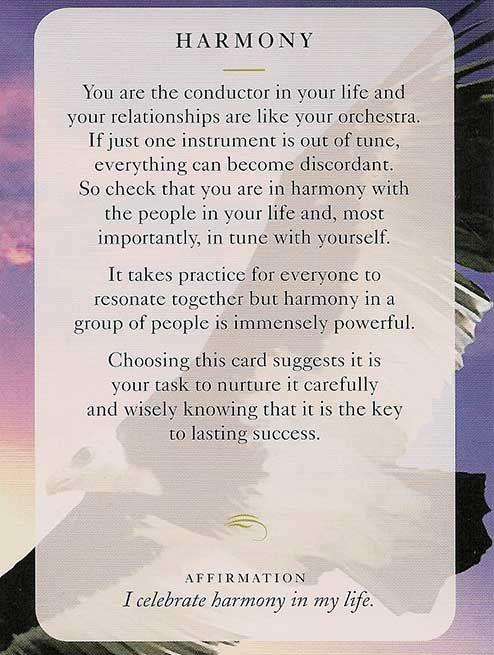 "** ""Harmony"" Today's Wisdom Card @dianacooper"