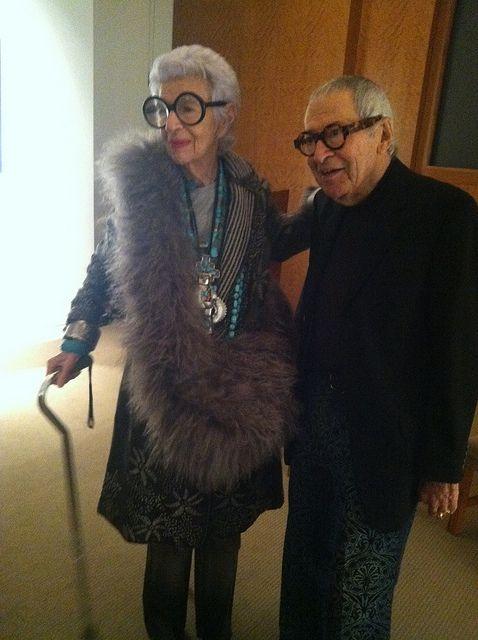 Iris Apfel and Carl Apfel @Wendy Silverstein