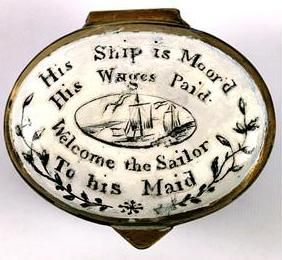Bilston enamel box  I loved when the lines were sercued and I could see your handsome face on the bridge. <3