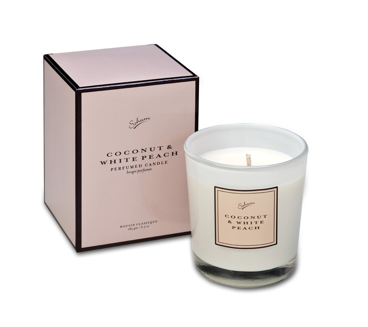 SOHUM Classic Candle in Coconut & white peach