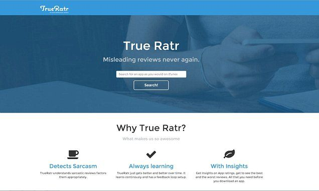 An online sarcasm detector? Yeah right... Web app helps to filter out sarcasm from reviews to give more...