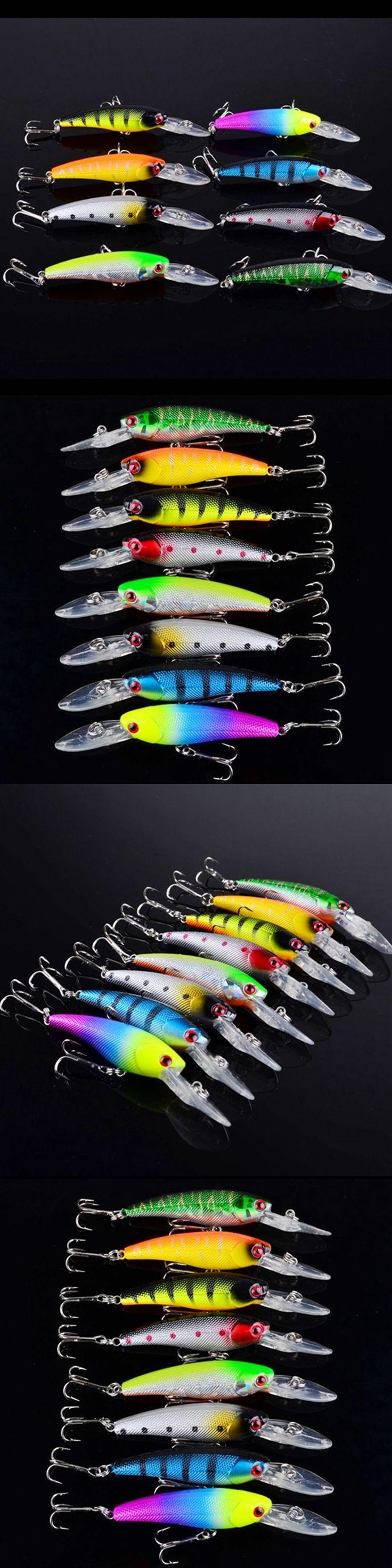 Wholesale 8Pieces/Lot  Fishing Lure set Minnow Bait Carp Fishing Wobbler Crankbait 3D eyes Sea Fishing tackle Pesca 90mm 8.3g