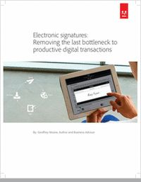 """Electronic Signatures: Removing the Last Bottleneck to Productive Digital Transactions""  This white paper by author and business advisor, Geoffrey Moore, discusses the road IT is headed and what role e-signatures may play in this transition."