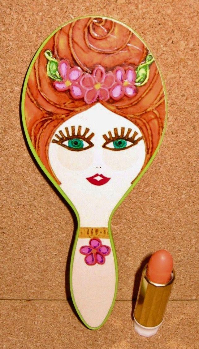 "Max Factor ""The Doll Set"" Lipstick Mirror, 1967"