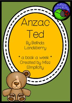 Anzac Ted reading activities