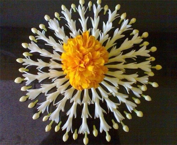 Latest Flower Rangoli Designs 2016: That Will Steal Your Heart Away!