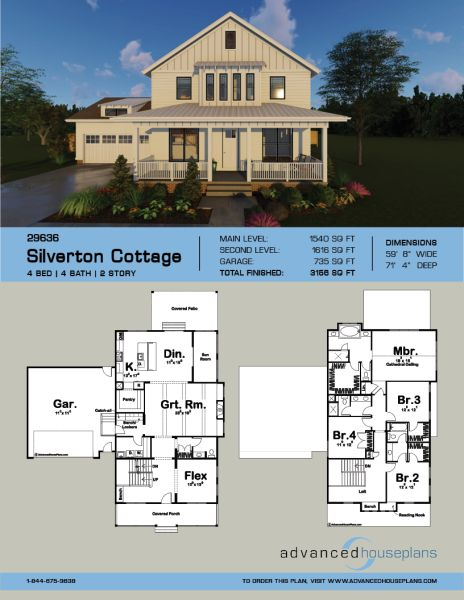 2 story modern farmhouse plan silverton cottage