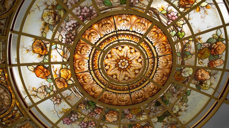 Stained glass dome details by France Vitrail International http://www.ericbonte-maitreverrier.com/
