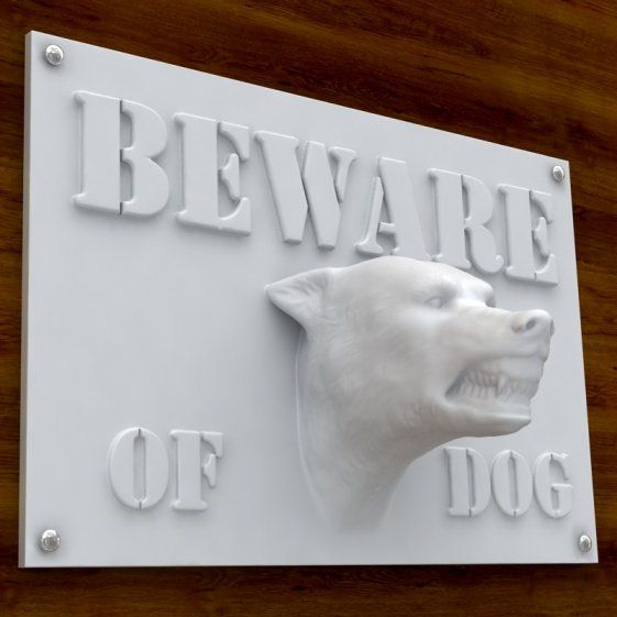"""This Printable 3d Print Ready Model """"beware Of Dog"""" Sign. Clean Room Signs Of Stroke. Panel Signs Of Stroke. Trials Signs. Cervical Lymphadenitis Signs. Success Signs Of Stroke. Division Signs. Brushed Aluminum Signs Of Stroke. Octet Signs"""