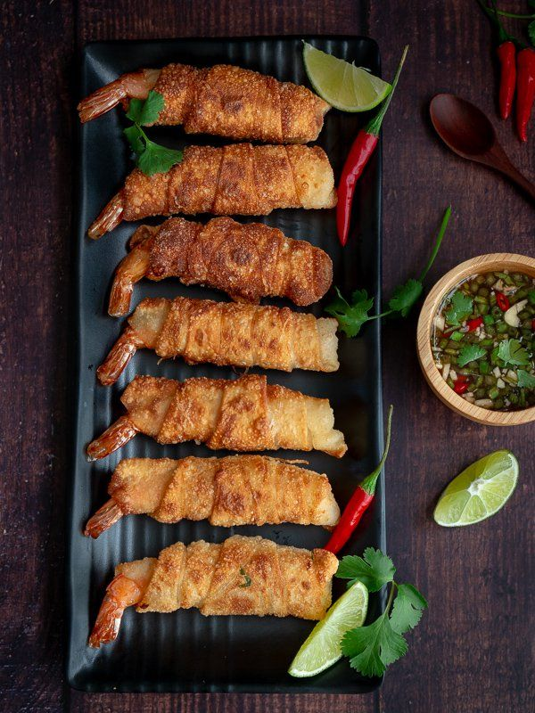 Shrimp Bundles with Thai Basil Dipping Sauce