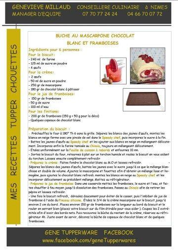 Bûche au mascarpone chocolat blanc et framboises