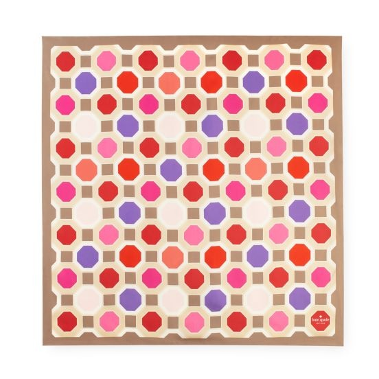 Kate Spade - Octagonal Silk Scarf: Silk Scarfs, Patterns Colors Texture, Spade Scarfs, Australian Artists, Artists Florence, Spade Silk, Crochet Patterns, Silk Scarves, Kate Spade