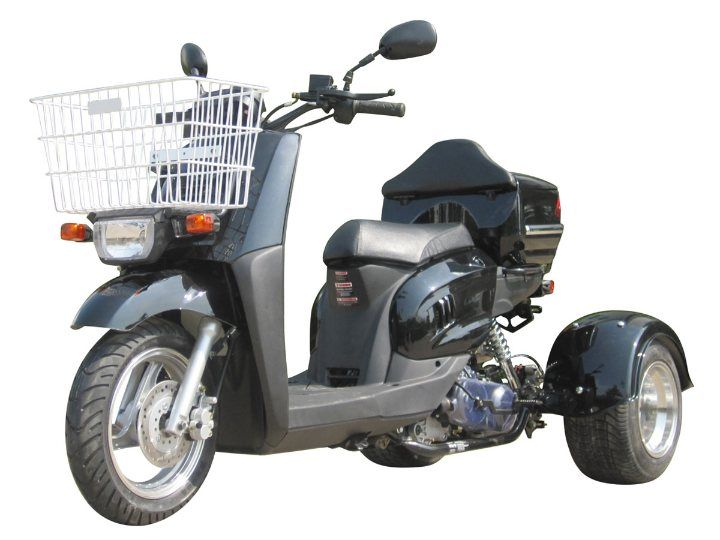 49cc scooters, 50cc scooters, 150cc scooters to 400cc Gas Scooters for sale , Street Legal Mopeds, Motorcycles, Go Karts, 4 Wheelers, Utility Vehicles, - CMS 3 Wheel 49cc Freedom Utility Trike Moped | Scooter - FREE SHIPPING ( MP 12018 )