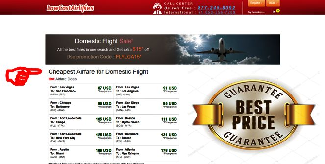 """#CheapFlight ... Cheap Domestic Flights ...  Cheap Domestic Flights! Book now and Get flat $15 Off with Coupon Code """"FLYLCA15"""". Book Now! ... For #DiscountTravel ... Start by clicking above main photo or visit button"""