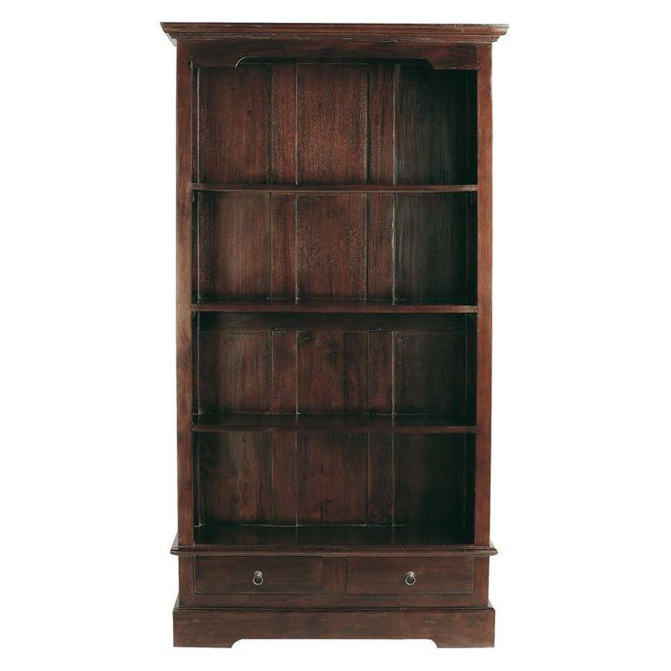 Solid mahogany bookcase W 98cm
