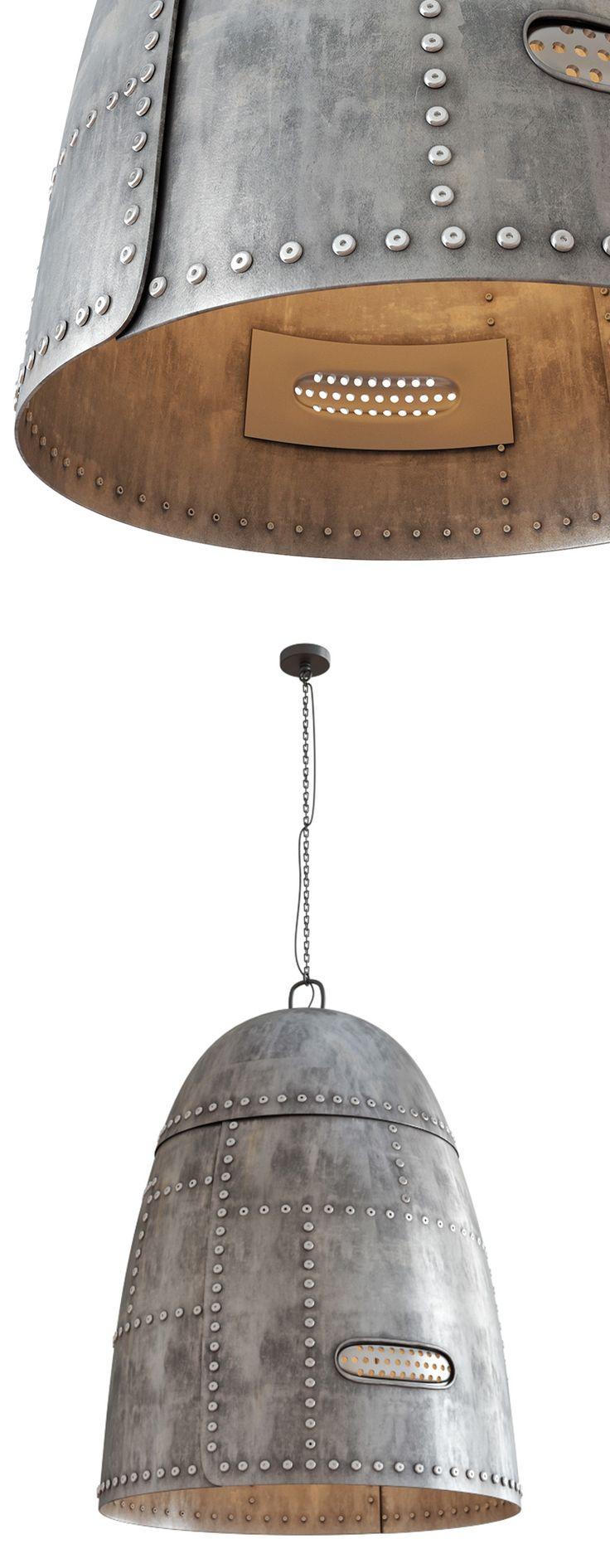 Ira Frolova | Metal Rivet Hanging Lamp Render