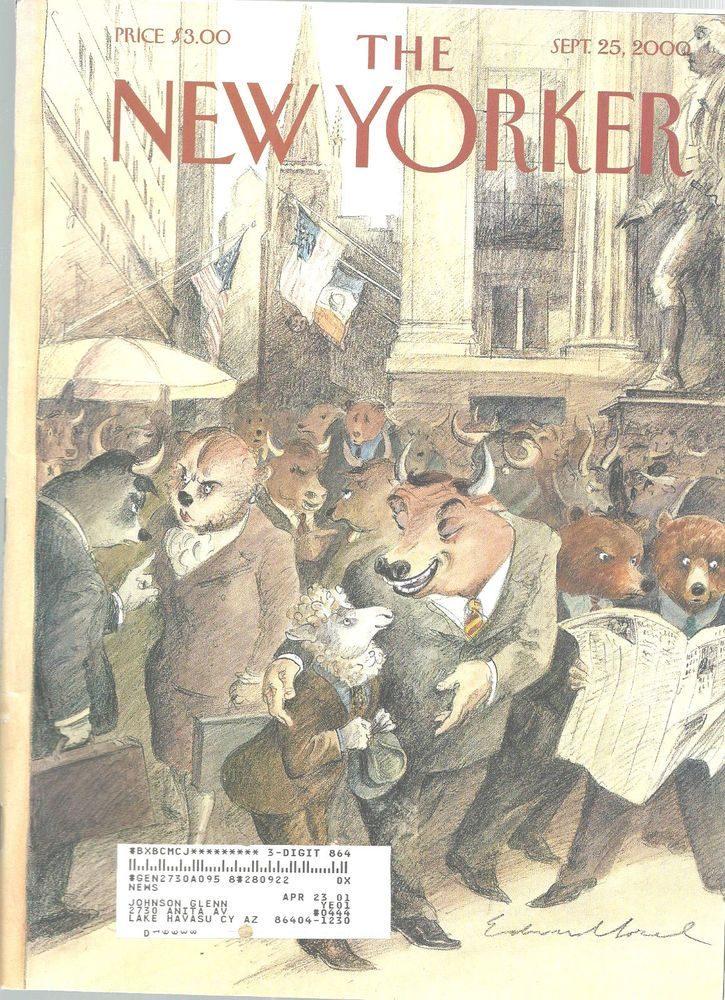 New Yorker Magazine Silence Of The Lamb September 25 2000 Edward Sorel #unknown