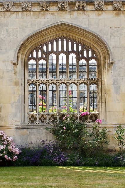 Gorgeous King's College window, University of Cambridge, Cambridgeshire, England, UK