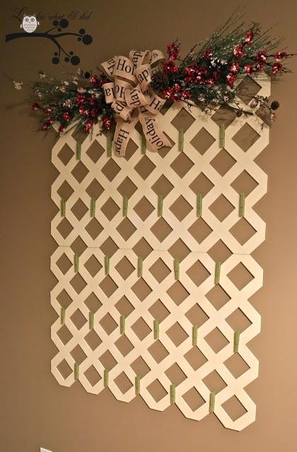 Lattice Christmas Card Picture Holder Cute Idea Can Hot