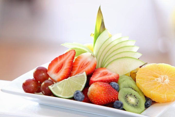 Fruit Plate with Lychee Coconut Lime dressing - Wozz! Kitchen Creations