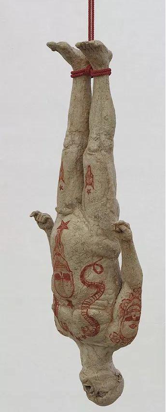 Disturbed, Figurative Ceramic Sculptures by Lars Calmar   Hi-Fructose Magazine
