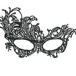 [ETC]-Side Stepper Mardi Gras Lace Mask-Black