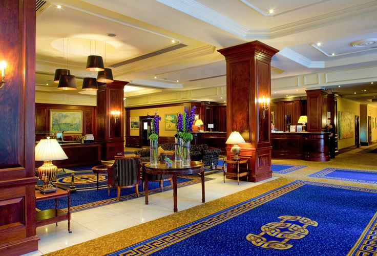 Our beautiful lobby in Clyde Court Hotel, Dublin, Ireland