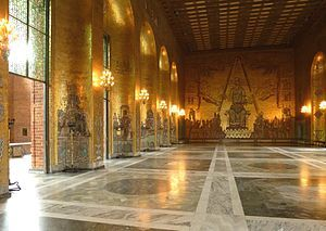 Golden Hall (Stockholm City Hall) - Wikipedia, the free encyclopedia