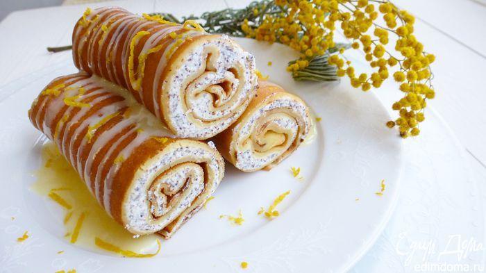 Цитрусовые блины с творожно-маковой начинкой Блинчики получаются нежными и ароматными. Начинка многими любимая — творожная. Но не простая, а с толченым маком и лимонной цедрой. Попробуйте! #едимдома #готовимдома #рецепты #кулинария #домашняяеда #блины #завтрак