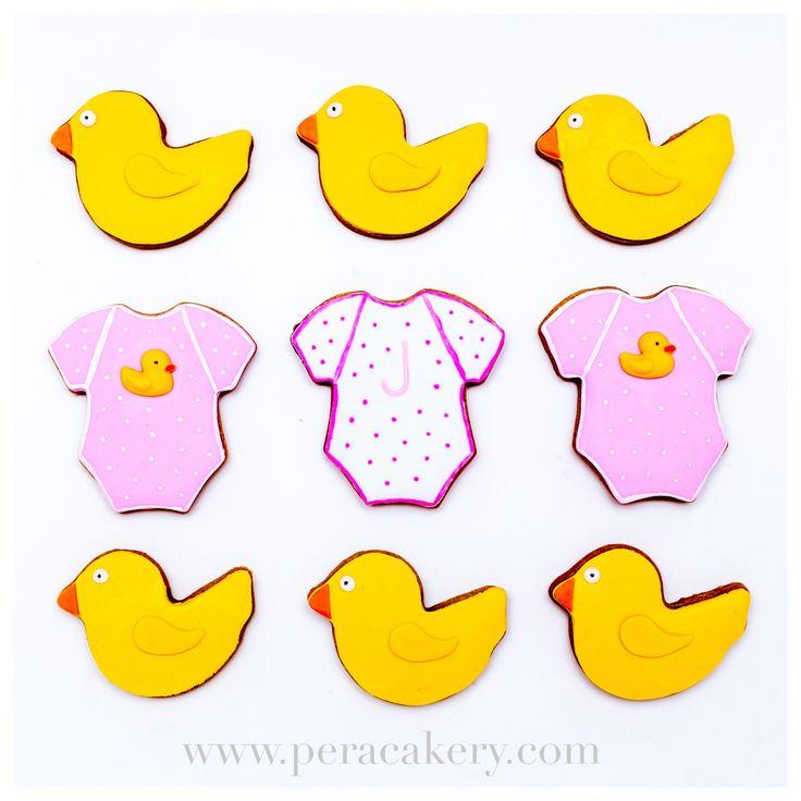 Baby shower cookies / onesie and duck