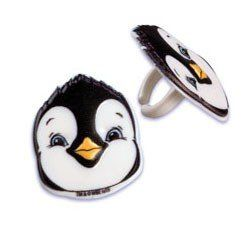 12 Happy Feet 2 Peguin Cupcake Rings Cake Toppers Party Favors by bakery. $4.75. From new Happy Feet 2 movie. Fully licensed. 12 pc in bag. Plastic. Cute Penguin Face. Twelve Happy Feet Cupcake Rings.  Scatter them on the table, pop them in Party Favor bags or decorate your cupcakes!