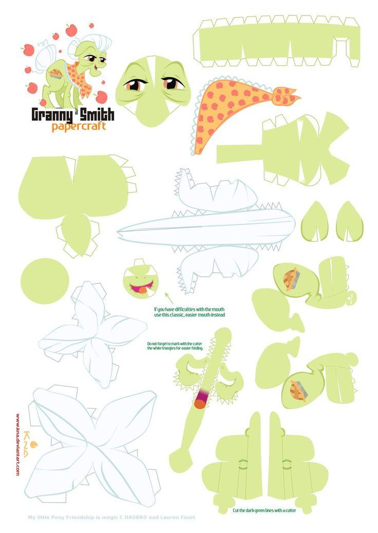 Granny Smith papercraft pattern by *Kna on deviantART