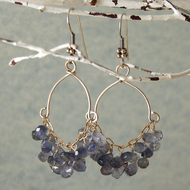 "Blue Apatite Earrings Chandelier Earrings Sterling Silver ""Lana"". $48.00, via Etsy."