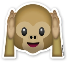 Hear No Evil Monkey | Emoji Stickers
