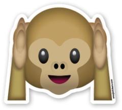 Hear No Evil Monkey | Emoji Stickers