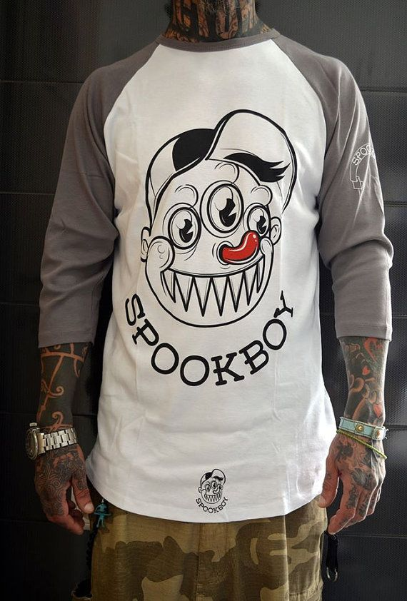 Handmade cotton spooky raglans with nice prints by Spookboy, €30.00
