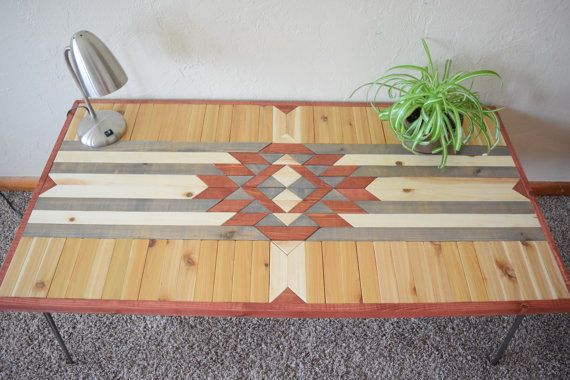 Hand crafted Southwestern Coffee Table with Hairpin Legs