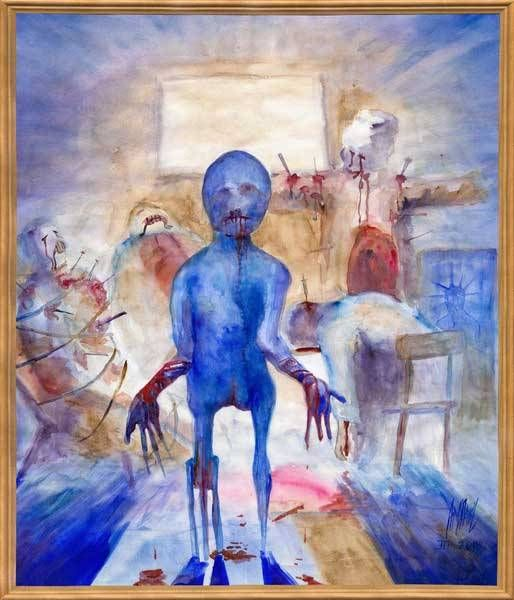 Mentally Insane People Art Drawing of a mentally ill