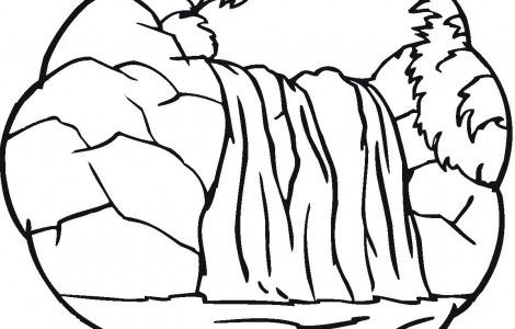 Little Waterfall Coloring