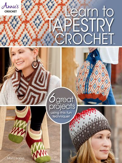 6 fun accessories patterns for the family, with tapestry crochet technique