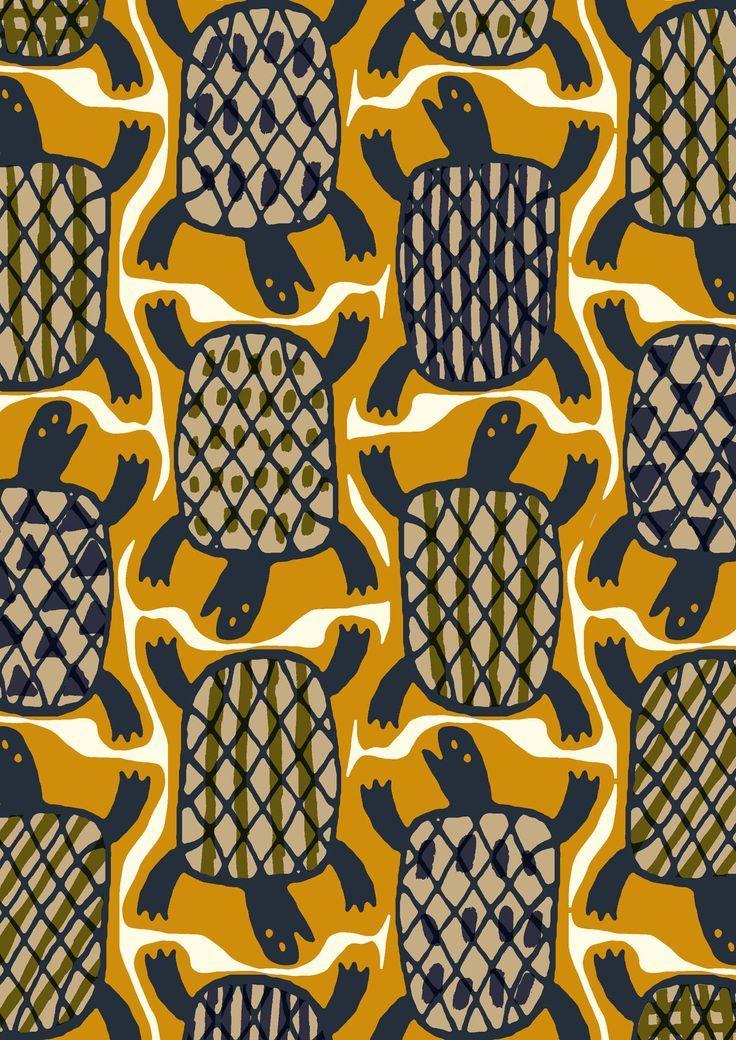 Minakani Turtle Tortoise Shell Tiki Pattern African Pattern Design Animal Prints Pattern African Pattern